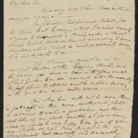 William Wordsworth letter (front)