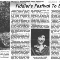 Fiddler's Festival to Begin Friday