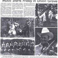 Music Starts Friday in Union Grove