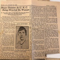 Durham Herald Sun Clipping about Susan Akers, 1933