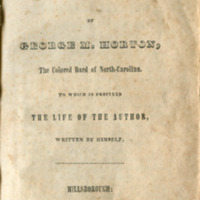 """The Poetical Works of George M. Horton,"" 1845. Title page."
