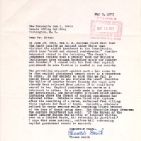 5 May 1973: Letter from Thomas Smith, Hudson, N.C., to Senator Sam Ervin