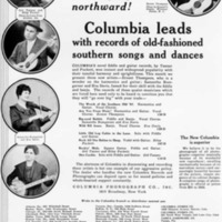 Copy of Columbia Records Advertisement from Talking Machine World