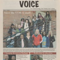 front cover of Northeast Central Durham Community Voice by Jock Lauterer, UNC-Chapel Hill; Bruce dePyssler, NCCU; Lisa Paulin, NCCU, Durham, N.C.