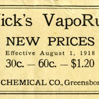 Vick's VapoRub: new prices