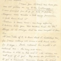 Letter from William Cain to Bessie Brownrigg Cain Henderson