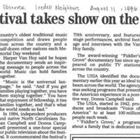 Fiddler's Festival Takes Show on the Roadvia TV