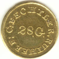 Bechtler gold dollar, 1834-1837