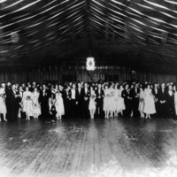 Pi Kappa Alpha dance, Thompson Gym, Easter Monday, April 5, 1926.  Thompson Theatre, NC State University (Raleigh, N.C.) University Archives Photograph Collection.