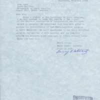 Letter from Barry H. Schwartz '68 to Dean of Men William G. Long