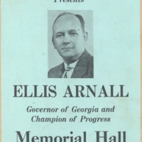 "Flier, ""The Carolina Political Union Presents Ellis Arnall"""