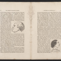 Pages 8 and 9 of The Twelve Qualities of Mind by James R. Redfield with illustrations of an African American male head and a white female head in profile