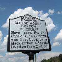 George Moses Horton historical marker