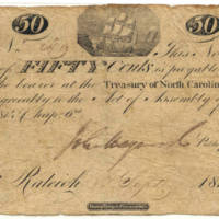 North Carolina 50 cent treasury note, 1814