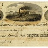 Thomas R. Tate scrip $5, 1830s