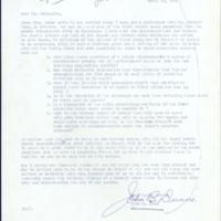 Letter from John B. Dunne, Sr. to Floyd McKissick.