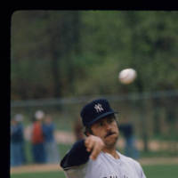 Catfish Hunter at UNC-CH Apr 3, 1979