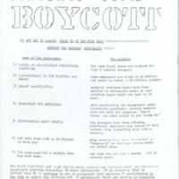 """Honor the Boycott"""