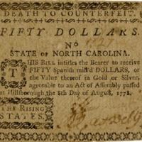 NC 1778 paper money for numismatics timeline