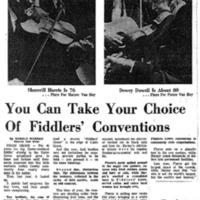 You Can Take Your Choice of Fiddler's Conventions