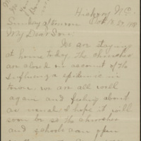 Letter from Etta Eleanor Rankin Peeler to Corporal Lawrence T. Peeler, [27] October 1918