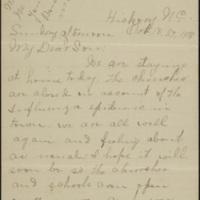 Letter from Etta Eleanor Rankin Peeler to Corporal Lawrence T. Peeler, [27] October 1918