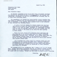 Letter from Professor William S. Newman to Chancellor Paul Sharp