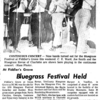 At Fiddler's Grove, Bluegrass Festival Held