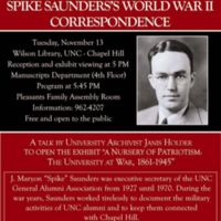 Opening Talk - Words Can Do Little: Spike Saunders's World War II Correspondence