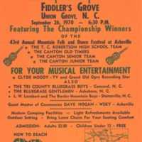 Square-Up Festival Poster, Fiddler's Grove, 1970