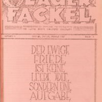 front cover of Lager Fackel by German prisoners, Camp Butner, Granville County, N.C.