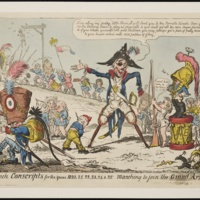 French Conscripts by George Cruikshank