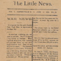 front cover of The Little News by Thomas Johnston Henderson (1883-1959), Yanceyville, N.C.