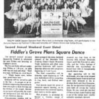 Fiddler's Grove Plans Square Dance