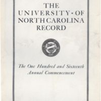 University of North Carolina Record