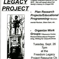 Freedom Legacy Project flyer, 2001