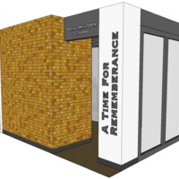 Plan for oral history recording booth at the Tuskegee History Center 1