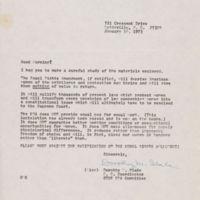 letter from Dorothy M Slade, Jan 18, 1973