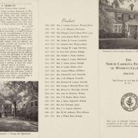 N. C. Federation of Women's Clubs brochure