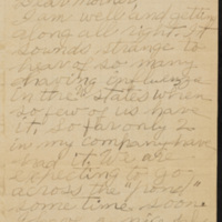 Letter from Joseph Lucius Reed to Bethany Barbara Sales Reed