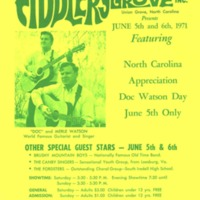 Doc Watson Appreciation Day Poster, Fiddler's Grove, 1971