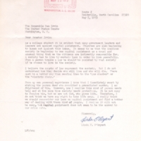 5 May 1973: Letter from Linda F. O'Bryant, Reidsville, N.C., to Senator Sam Ervin Jr.