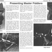 Presenting Master Fiddlers