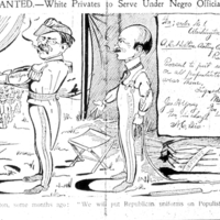 WANTED: White Privates to Serve Under Negro Officials.