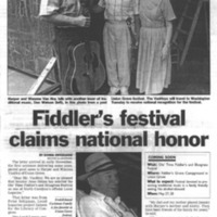 Fiddler's Festival Claims National Honor