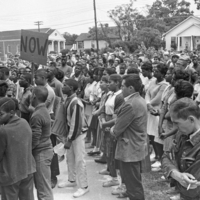 Photograph, Rally at St. Joseph A.M.E. Church