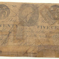 Seventy-five-cent counterfeit treasury note, 1778