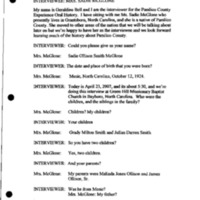 Transcript of the interview with Sadie Ollison McGlone, 23 April 2007 (U-0342)
