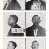Mugshots of Frank Dove, George Williams, and Fred Dove