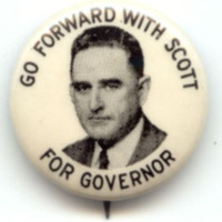 William Kerr Scott button